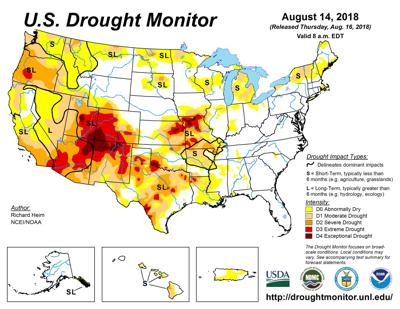 Drought expands in Missouri while rainfall improves conditions in ...