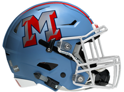Monterey football helmet left