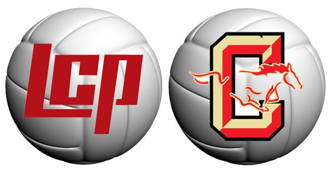 LCP-Coronado volleyball logo