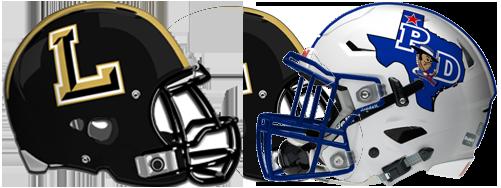 Lubbock High-Palo Duro helmets