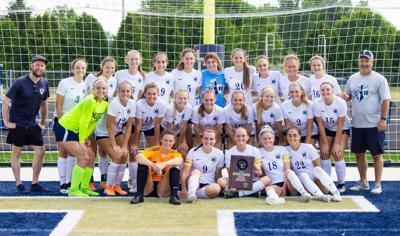 Hudson girls soccer sectional champions