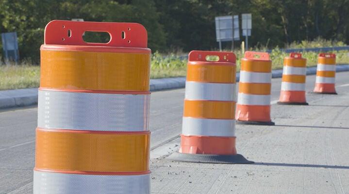 Orange traffic barrels RTSA