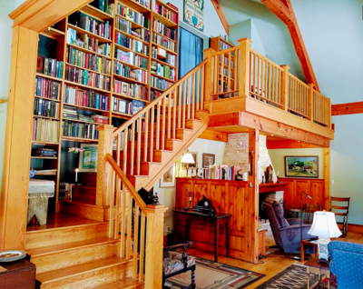 Currently for sale: This tucked-away home in Stockholm, Wis., is a perfect retreat for readers and nature lovers