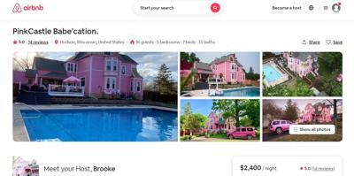 Pink castle rental