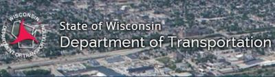 Wisconsin Department of Transportation logo with photo background