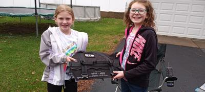 St. Croix County K-9 Vest Haylee Johnson and Mallory Myster