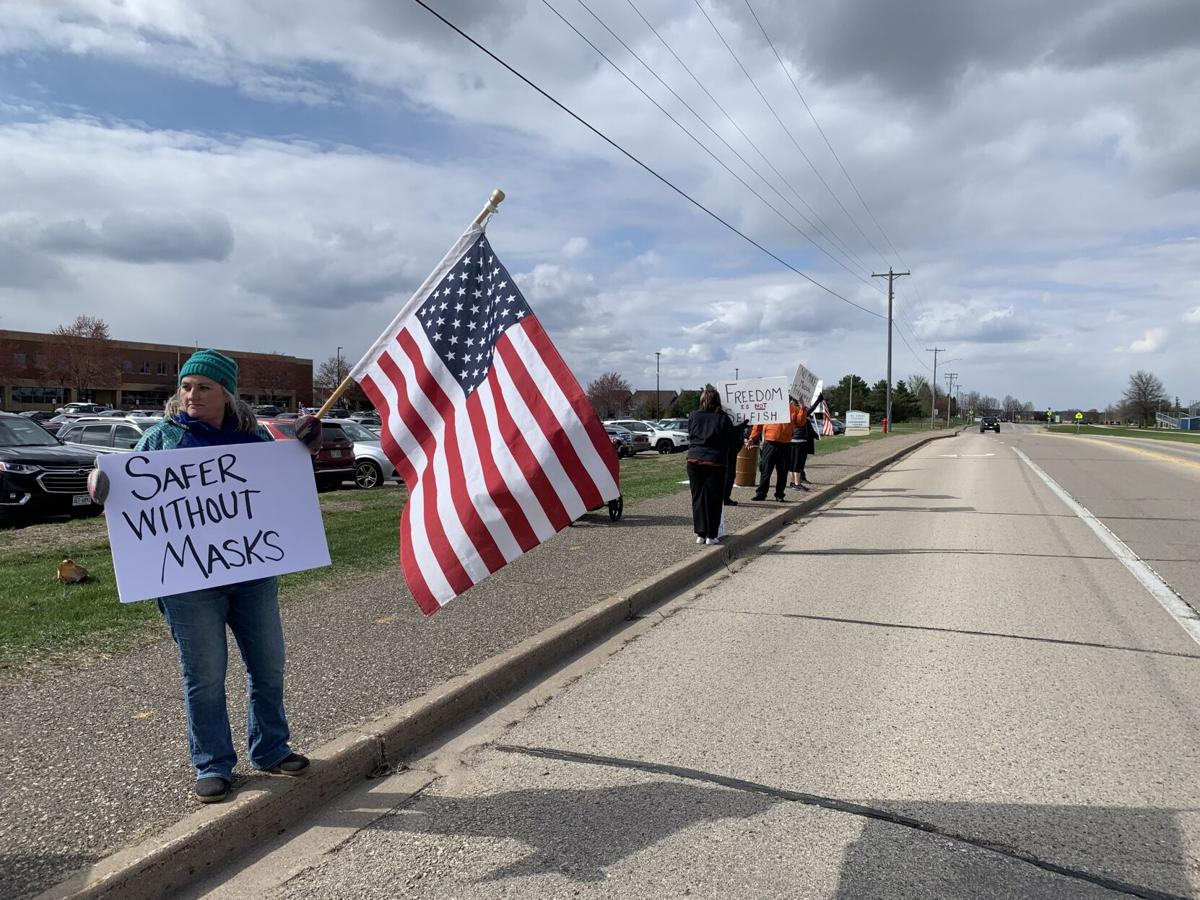 St. Croix County anti-mask protest