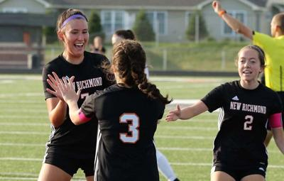 New Richmond celebrates a goal