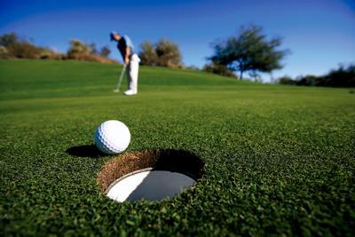 Golf ball into hole RTSA