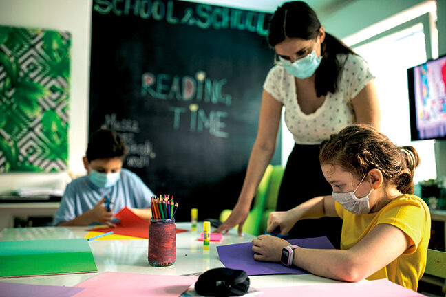 Teacher and students masked RTSA