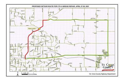 St. Croix County Road A detour
