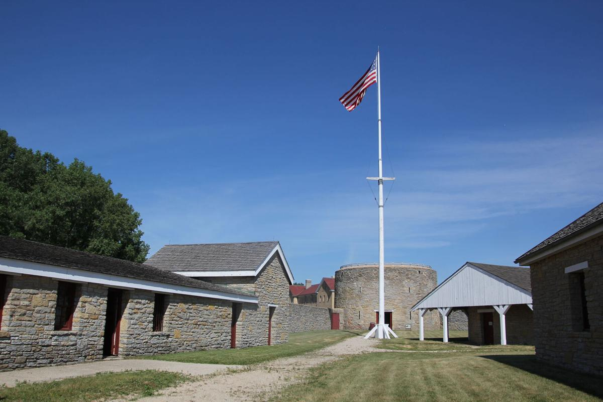 Fort Snelling flag pole and tower.JPG