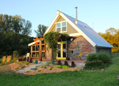 Eco-friendly tiny home in Pierce County, Wis. for sale