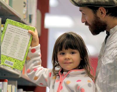 Girl at library RTSA