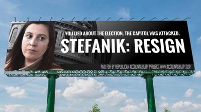 Billboard campaign calls on Stefanik to resign