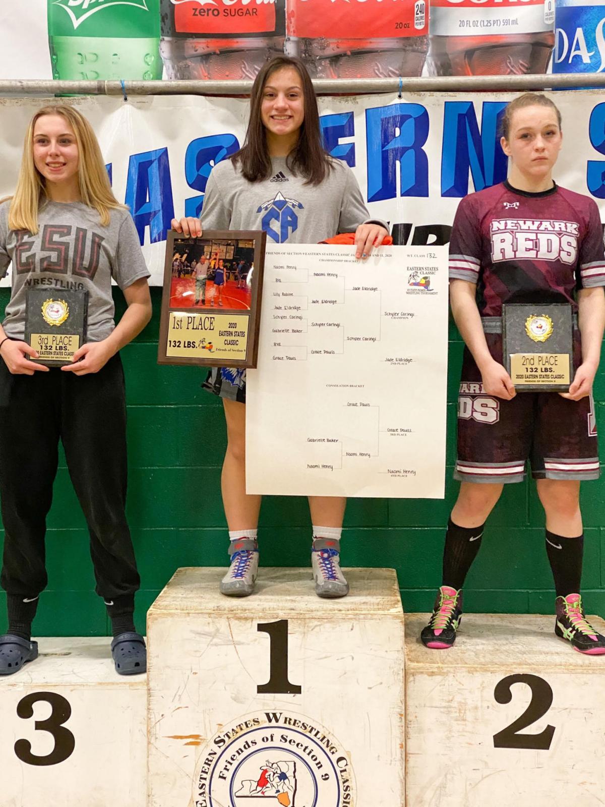 WRESTLING ROUNDUP: C-A's Caringi wins Eastern States title