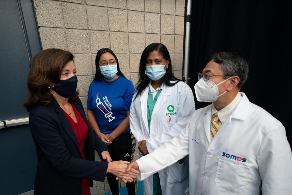 Hochul: Vax mandate for health staff 'self-defense'