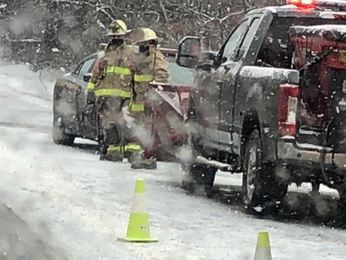 Hudson driver uninjured after rollover