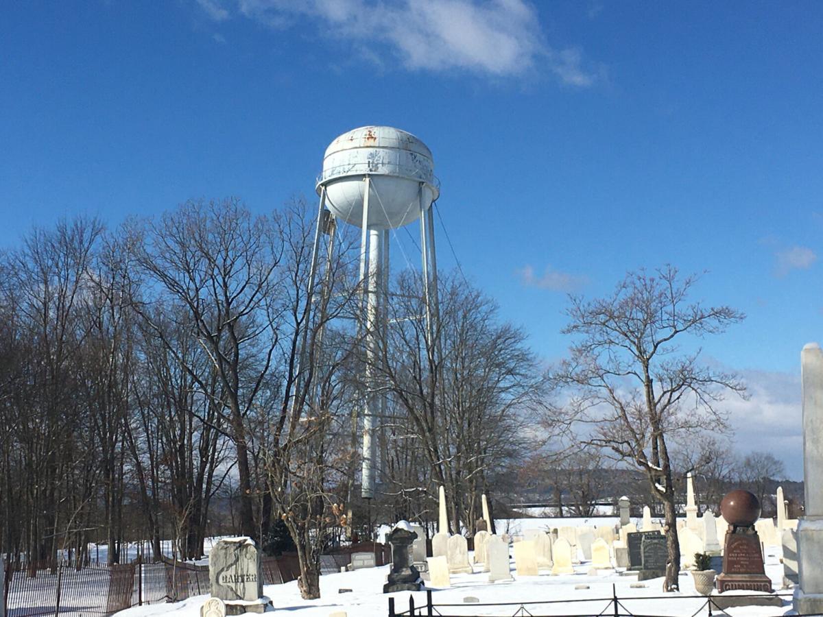 Water tower demolished