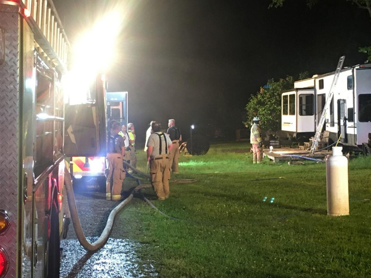 Fire causes extensive damage to RV in Copake