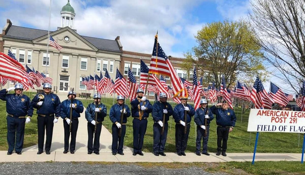 Field of red, white and blue to honor veterans