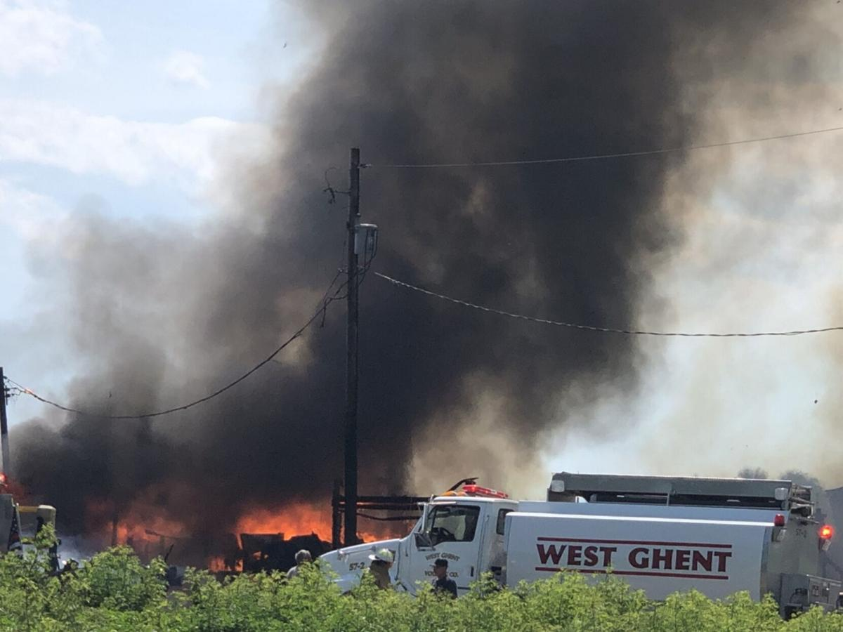 Barn destroyed by fire in Stuyvesant Falls