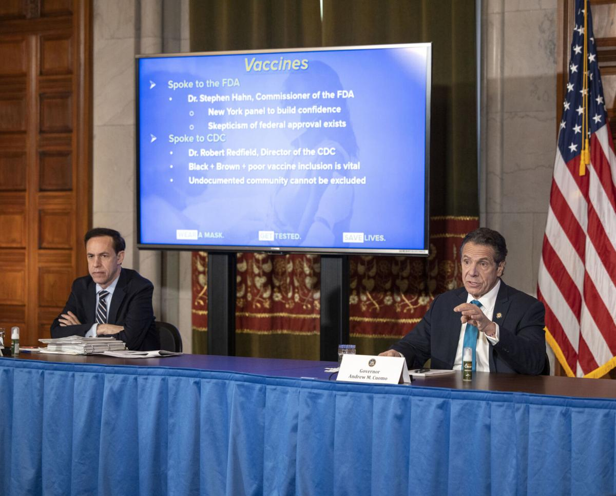 Cuomo: NY to receive first vaccines Dec. 15