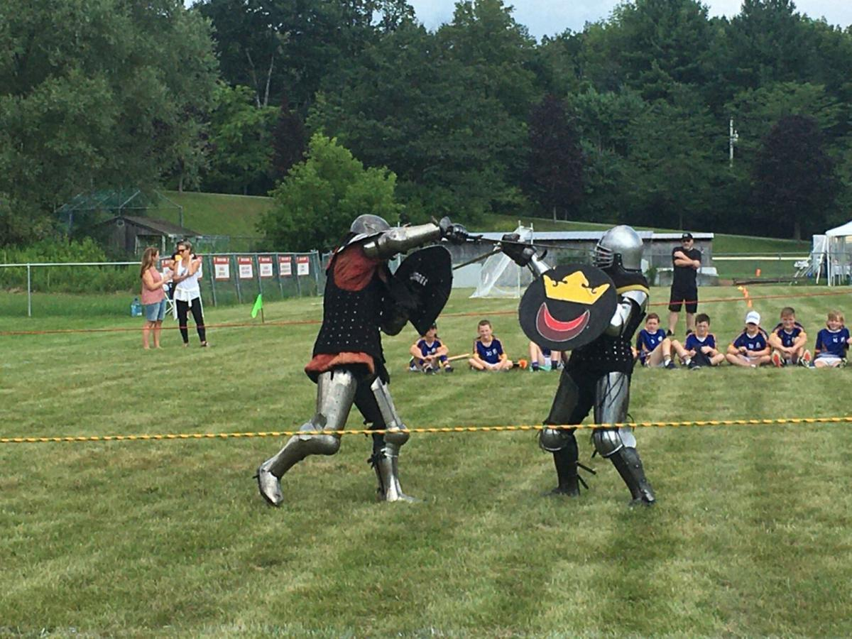 Medieval armored combat opens Gaelic Games