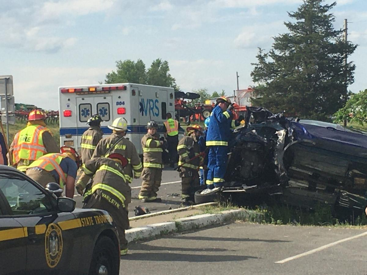 Claverack accident causes car to roll over