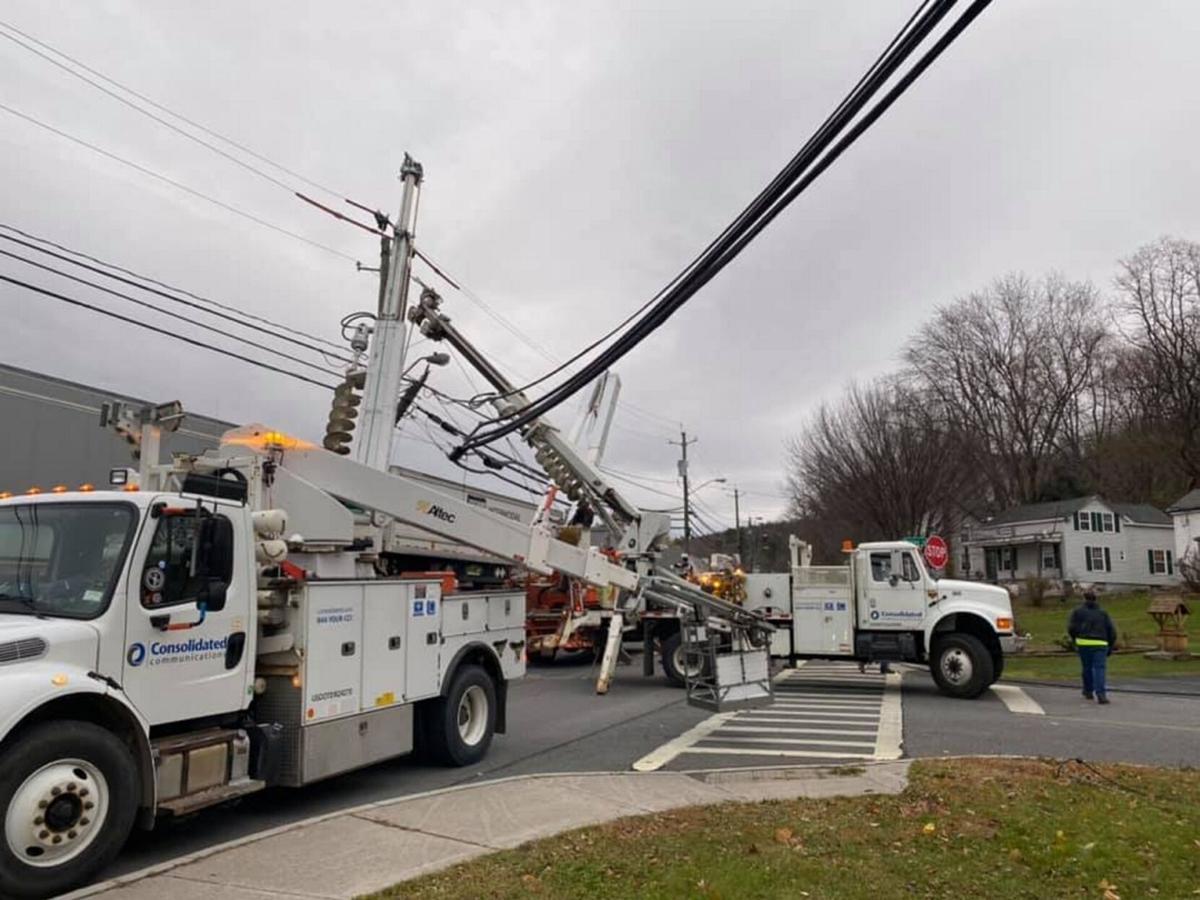 Truck-pole collision halts rail traffic