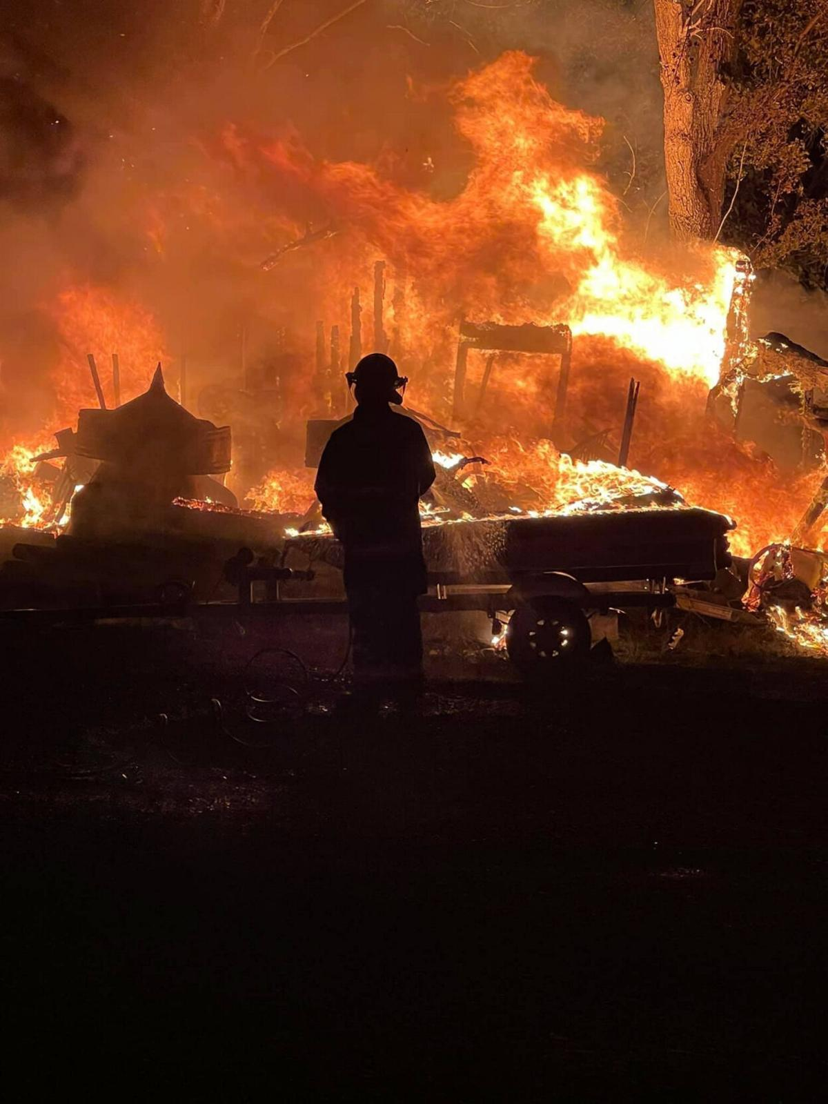 Fire destroys garage at Freehold business