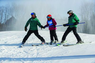 Skiing lessons provided for young patients