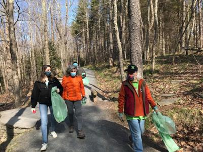 Sen. Michelle Hinchey joins Earth Day cleanup