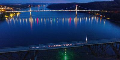 Walkway Over the Hudson says Thank You