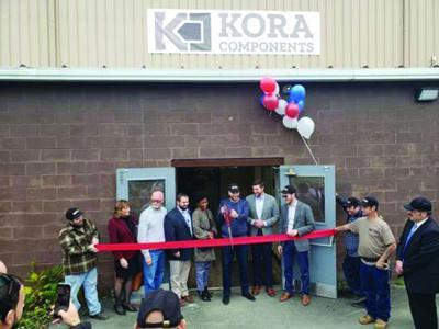 Central Hudson presents $100K building revitalization grant to Kora Components