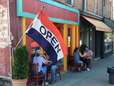Restaurants open their doors