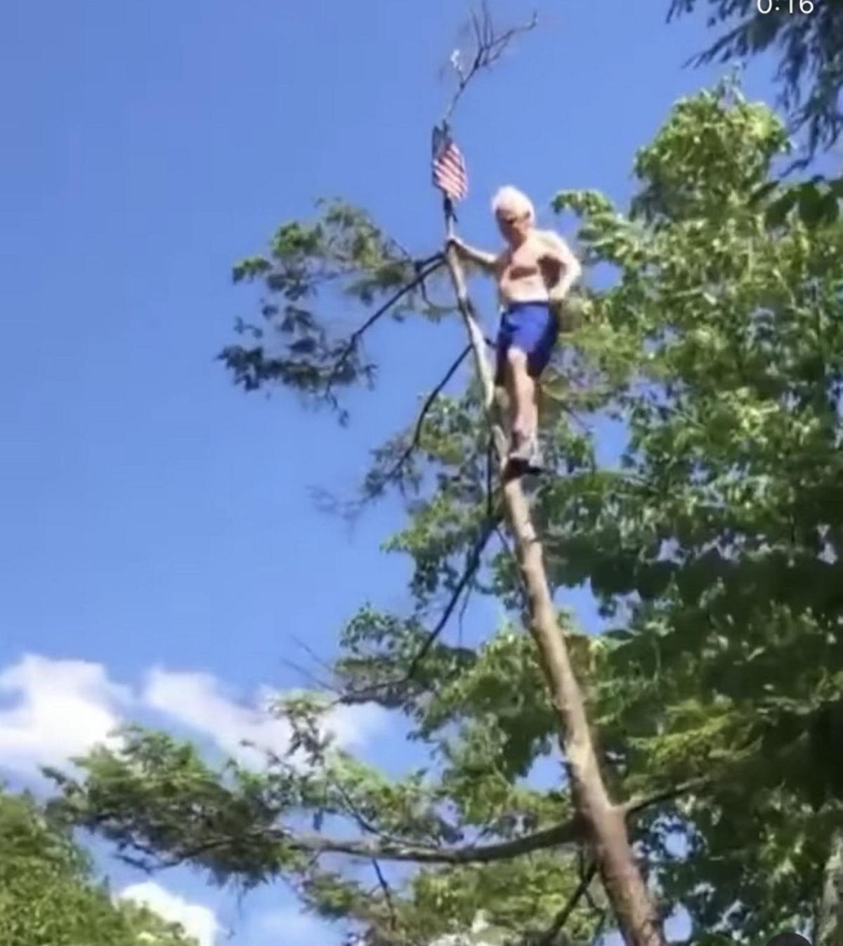 Cliff jumper makes leap of faith