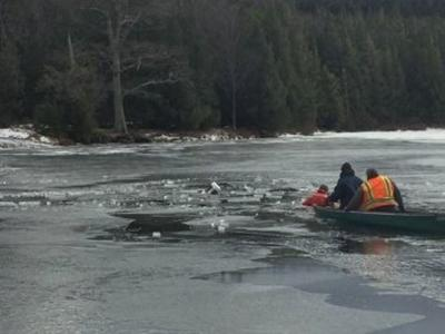 Two rescued from ice at North-South Lake