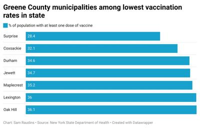 State: 7 Greene communities have lowest vax rates in Capital Region