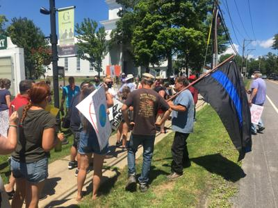 Tensions mar peaceful Greenville protest