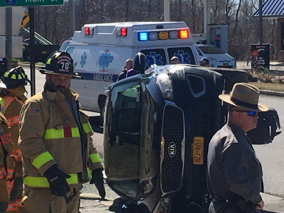 Rollover accident in Germantown