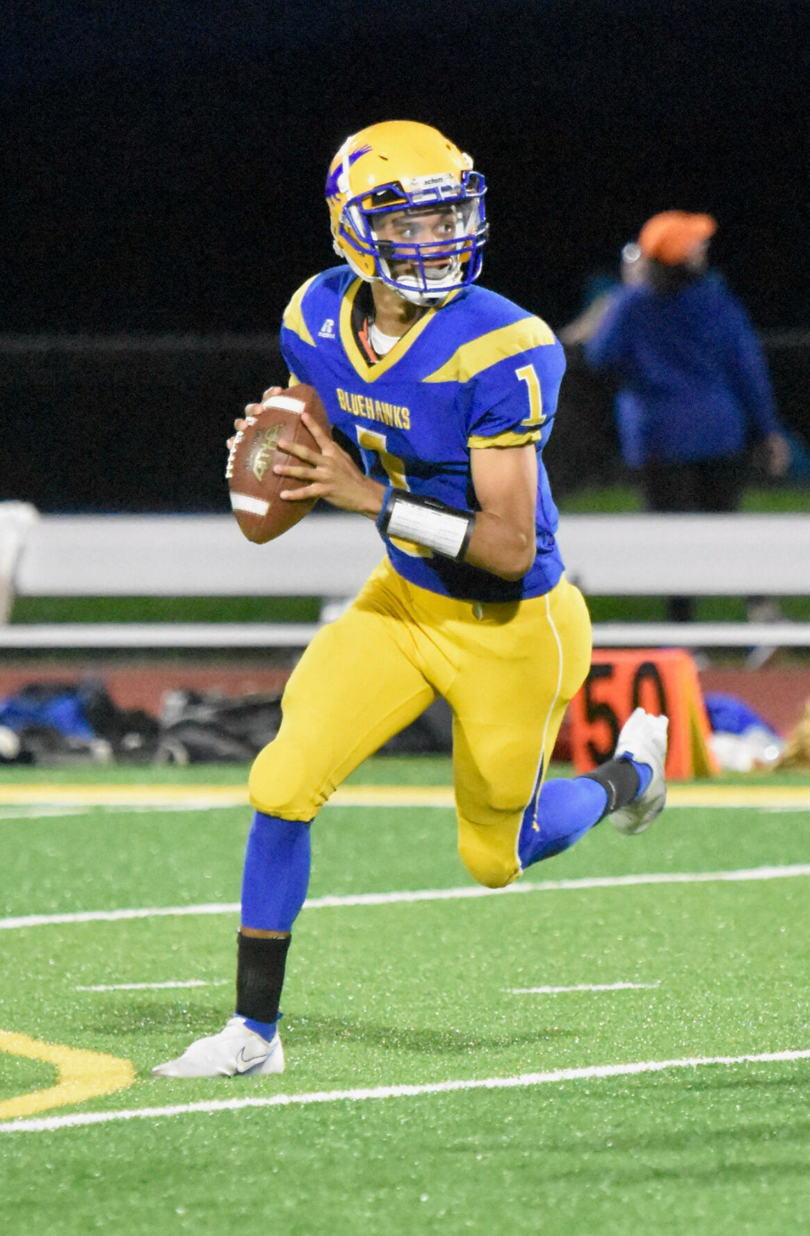 H.S. FOOTBALL ROUNDUP: Bluehawks roll to fourth straight win