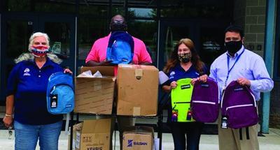 Catskill Elks donate book bags to Catskill elementary