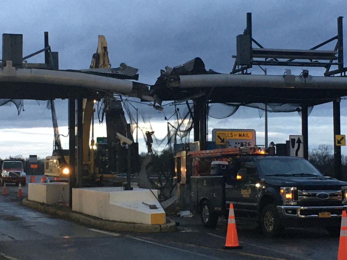 Demolition of Coxsackie toll plaza begins