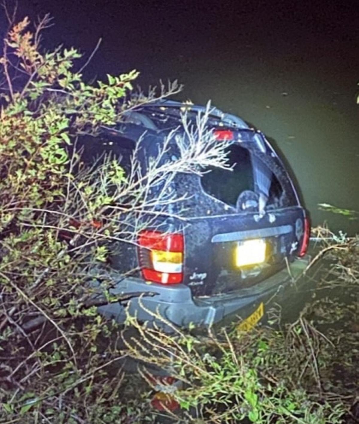 Man flees police, crashes into river