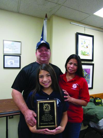 Student awarded for raising money for veterans