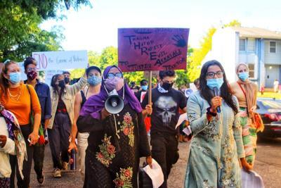 Rally fights sex assault stigma