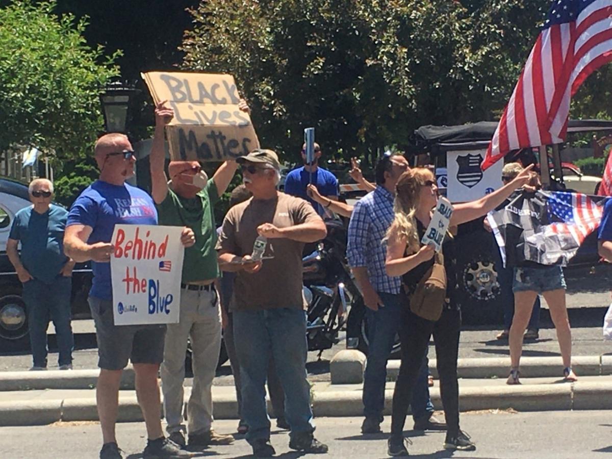 Opposing rallies occupy Kinderhook Square
