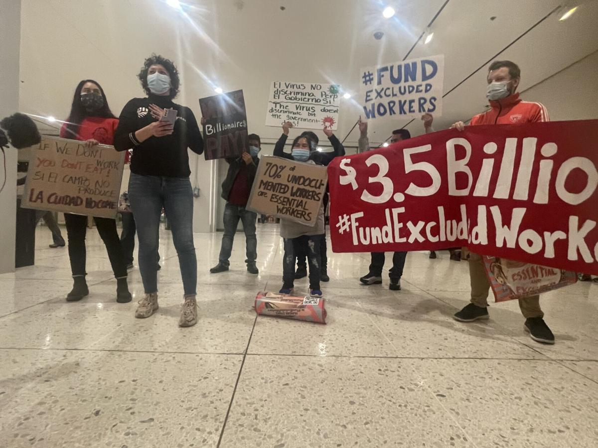 Activists on hunger strike push $3.5B for excluded workers