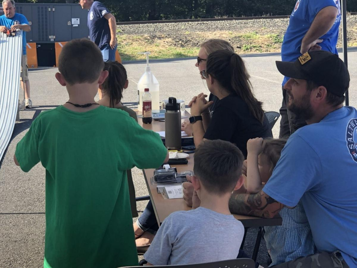 Hudson police hold first Pinewood Derby